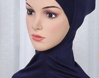 Hooded Navy Blue long head costume