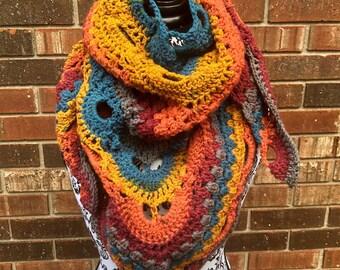Gorgeous Crocheted Shawls- Large