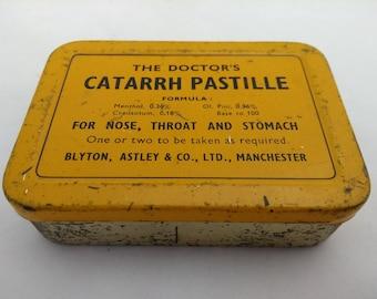 The Doctor's Catarrh Pastille Vintage Tin