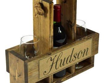 Wine Case - Wine Carrier - Wine Tote - Wine Lover Gift - Wine Caddy - Wine Rack - Wine Bag - Wine Storage -
