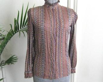 Vintage 1980's secretary blouse