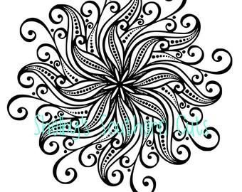 Flower Mandala - SVG