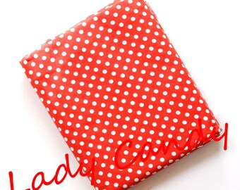 45x50cm red dot fabric / Cotton / sewing Patchwork making garment #7334