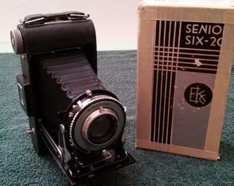 KODAK Senior Six-20 Folding camera in box with manual
