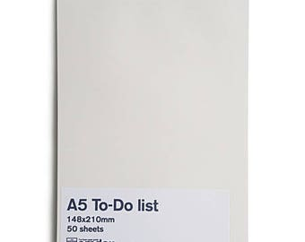 A5 to do list - memo note pad