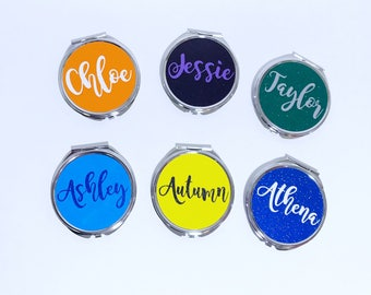 Compact mirror. Pocket mirror. Personalized gifts. Customized gifts. Gifts for tennage girls. Valentine's Day gifts. Makeup mirror. handheld