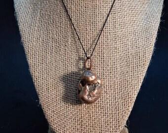 copper nugget pendant. 1.8 oz