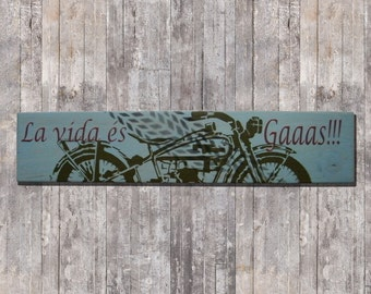 Wood gas is life poster! stencil-art