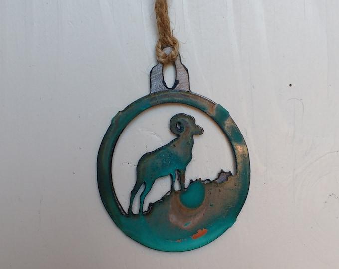 Patina Big Horn Sheep Ornament