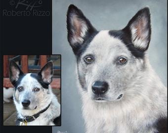 Custom Pet Portraits | Original Dog Painting on Commission | Fine Art by Roberto Rizzo