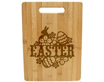 Laser Engraved Cutting Board - 059 - Easter