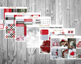 Baby It's Cold Outside DELUXE Weekly Kit   Erin Condren Life Planner Stickers   Happy Planner   Winter Stickers Kit  