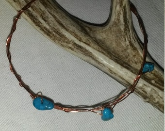 Copper wire grounding bracelet