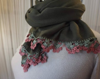 Beautiful Handmade Needle Work,Needle lace.Oya Stall