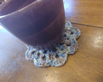 Crochet coffee coaster