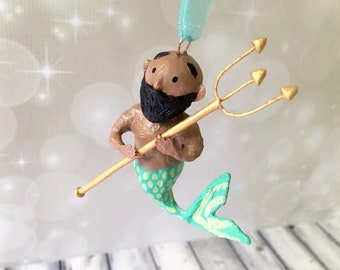 Merman Ornament - OOAK