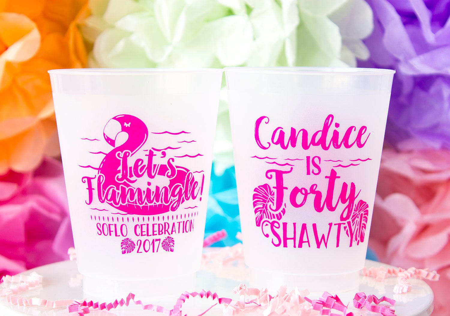 40th Birthday Cup 40th Birthday Party Let\'s Flamingle
