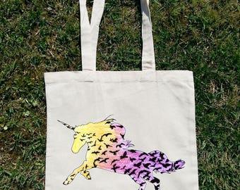 Just Believe Unicorn, Unicorn Bag, Unicorn Tote Bag, Unicorn Shoulder Bag, Unicorn Clothing , Unicorn Beach Bag, Unicorn Summer Bag