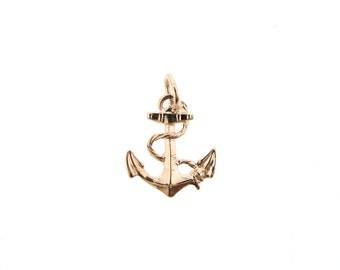 Rose Gold Anchor Charm