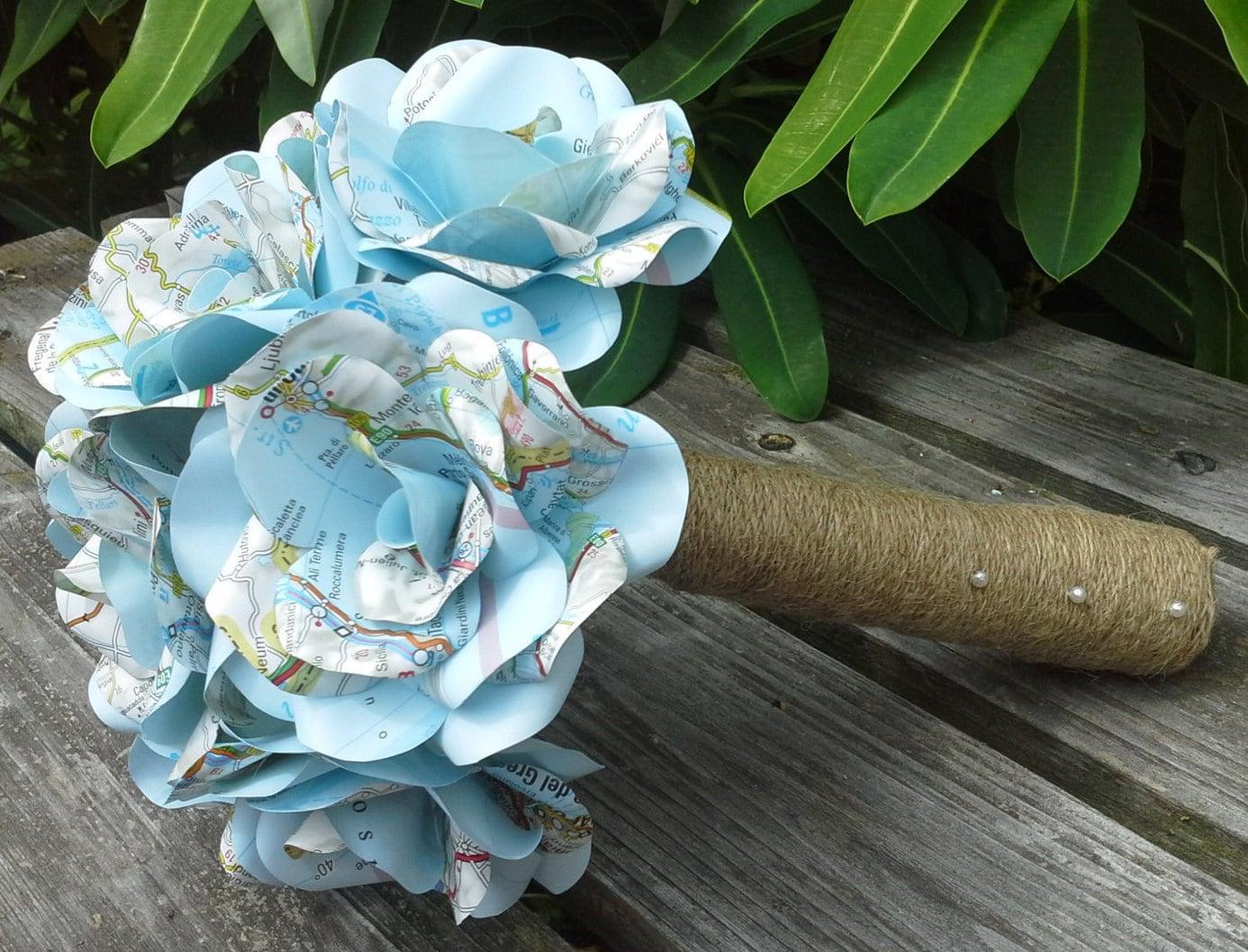 Paper flower wedding bouquet boatremyeaton paper flower wedding bouquet izmirmasajfo