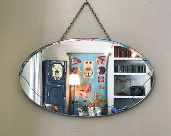 Etched mirror frameless antique mirror large round mirror oval mirror vintage mirror vanity mirror wall mirror star mirror decorative mirror