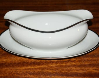 Harmony House, Moderne, Gravy boat with attached underplate