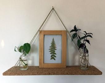 Cork Hanging Shelf / Swing Shelf
