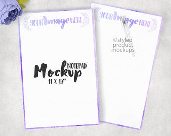 Paper notepad mockup template| Add your own image and background