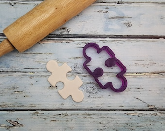 Puzzle Piece Cookie Cutter and Fondant Cutter and Clay Cutter