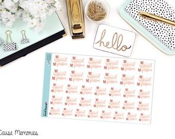 No BOYFRIEND, NO PROBLEM Paper Planner Stickers