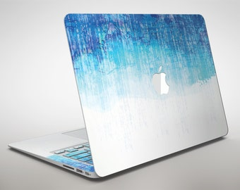 Faded Blue Watercolor Strokes - Apple MacBook Air or Pro Skin Decal Kit (All Versions Available)