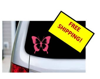 Butterfly Decal, Multiple Color & Size Options