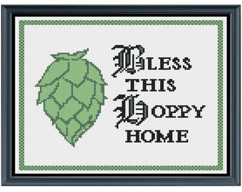 Cross Stitch Pattern | Beer Blessing ***Instant Download***