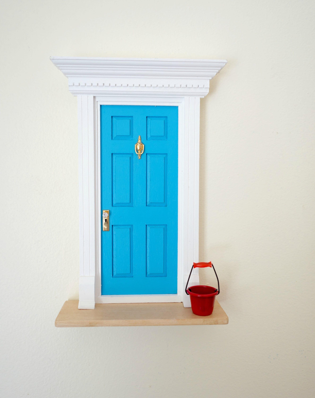 Blue Fairy Door Fairy Door For Boys Fun Blue Fairy Door With Red