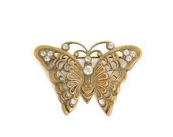 Butterfly, Butterfly Brooch, art nouveau, art nouveau jewelry, vintage brooch, art deco brooch, insect jewelry, gift for her, gift for wife