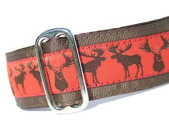"1.5"" Dog Collar Moose Maple - Choose Your Collar Style!"