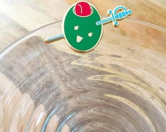 Martini Olive Hard Enamel Pin