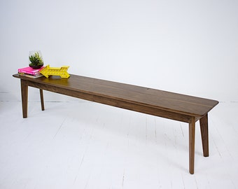 "Midcentury Modern Bench, Bench, Modern Bench, Dining Bench, Modern Bench, Dining Room Bench, Walnut Bench "" The Santa Monica Bench"""