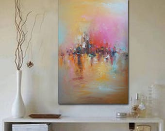 Large Abstract Oil Painting, Original Art, Abstract Canvas Painting Bedroom Decor Canvas Wall Art, Abstract Canvas Art Contemporary Wall Art