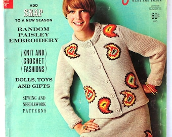 1967 Needle and Yarn Knitting and Crochet Magazine 1960s