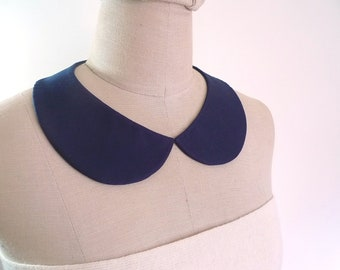 Peter Pan Collar Detachable Collar, Deep blue collar necklace