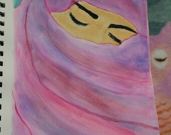 Middle Eastern Woman Watercolour