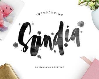 Sandia Brush Typeface