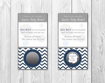 Baby Shower Scratch Off Cards | Baby BOY (10 Scratch Off Cards)