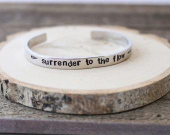cuff bracelet, aluminum bracelet, quote bracelet, custom bracelet, stamped jewelry, stamped bracelet, stamped bangle