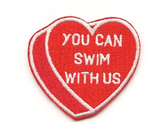 You Can Swim With Us Heart Patch | Swimming | Water Polo | Synchronized Swimming
