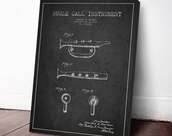 1939 Bugle Patent, Bugle Print, Bugle Canvas Print, Bugle  Poster, Wall Art, Home Decor, Gift Idea, MUIN33C