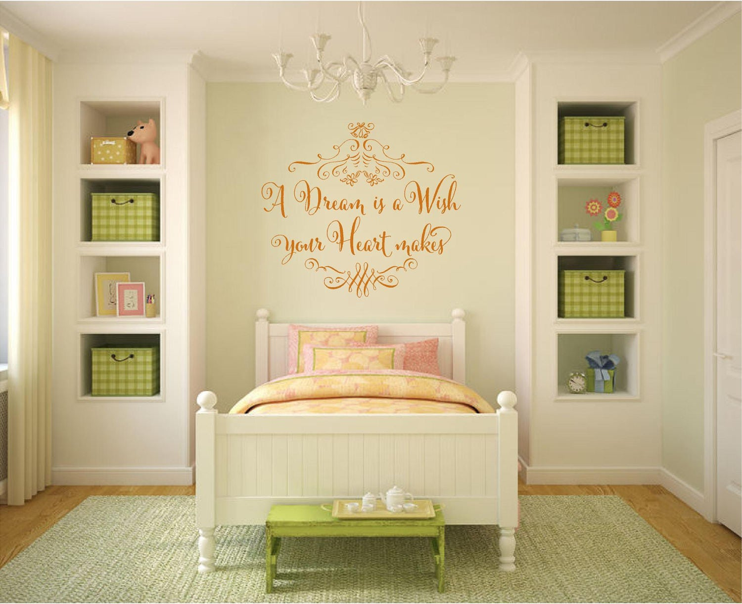 A Dream is a Wish Your Heart Makes Vinyl Wall Decal Vinyl