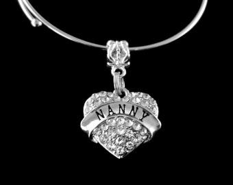 Nanny Bracelet Crystal heart nanny bracelet Nanny charm Bracelet Nanny jewelry