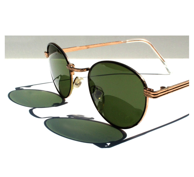 Vintage Round P3 Sunglasses / Gatsby Glasses / John Lennon